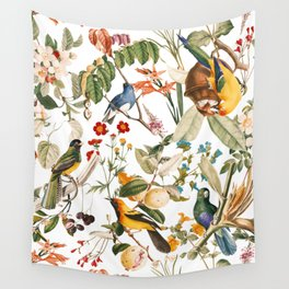 Floral and Birds XXXII Wall Tapestry