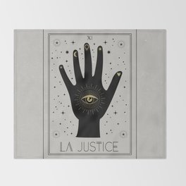 La Justice or The Justice Tarot Throw Blanket