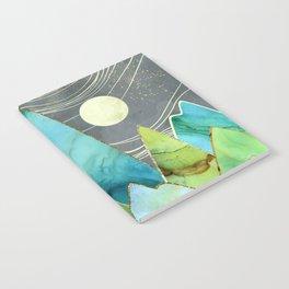 Moonlit Mountains Notebook