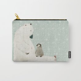 penguin and bear Carry-All Pouch
