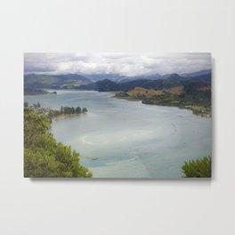 Looking back from Tairua on the Coromandel Peninsula Metal Print