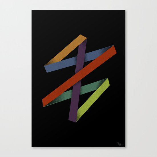 Folded Abstraction Canvas Print