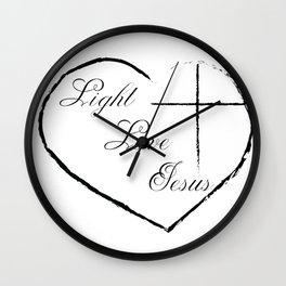 Light Love Jesus Wall Clock