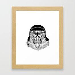 Monkey Speed Rebel Framed Art Print