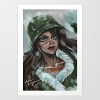 the winter soldier Art Prints featuring Winter Soldier by Soggykitten™