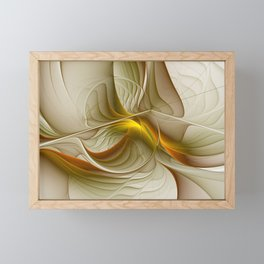 Abstract With Colors Of Precious Metals, Fractal Art Framed Mini Art Print