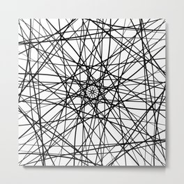 Geometric Black White Contemporary Art Metal Print