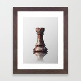 rook low poly Framed Art Print