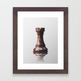 rook low poly Framed Art Print