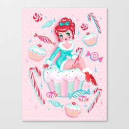 Christmas Cupcakes and Candy Cutie Canvas Print
