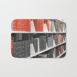 Only Red Books Bath Mat
