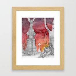 early sunsets over monroeville Framed Art Print