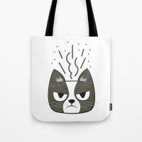 grumpy Tote Bags featuring Grumpy by Jaguar Force