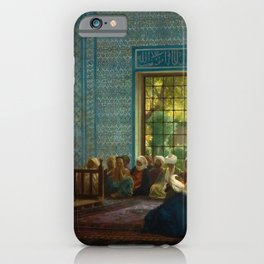 Sermon in the Mosque by Jéan Leon Gerome iPhone Case