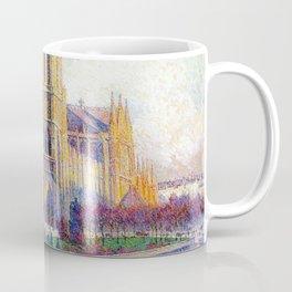 Quai Saint-Michel and Notre-Dame Paris landscape painting by Maximilien Luce Coffee Mug