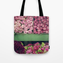 Flower Market Colorblock Tote Bag