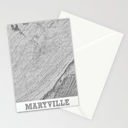 Maryville Pencil City Map Stationery Cards