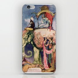 Indian scene with an elephant iPhone Skin