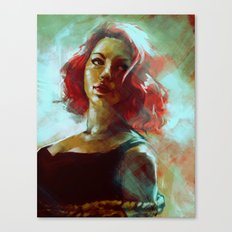 The Black Widow Canvas Print