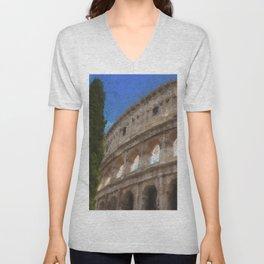 Rome, Colosseum Unisex V-Neck