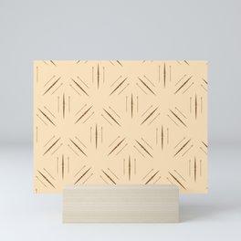 rowing pattern Mini Art Print