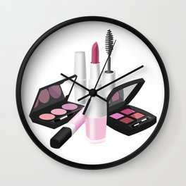 Make Up Set Wall Clock