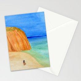 Sozinha Na Praia Stationery Cards