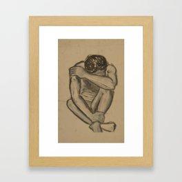 Melancholy Man Framed Art Print