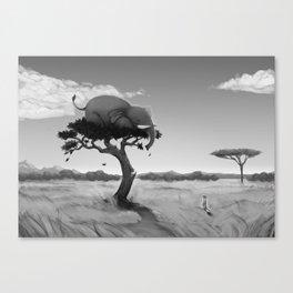 Scaredy Elephant Canvas Print
