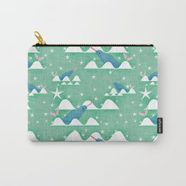 Sea unicorn - Narwhal green Carry-All Pouch
