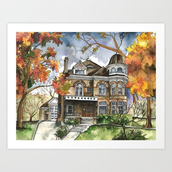 Victorian Autumn Art Print
