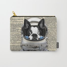 Space Pup with dictionary background Carry-All Pouch
