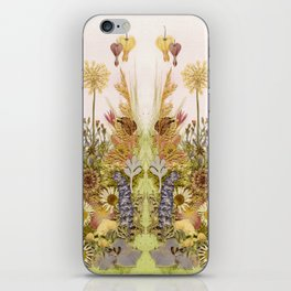 Pink Garden mirrored iPhone Skin
