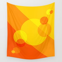 Orange Spheres Abstract Wall Tapestry