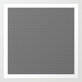 Black and White Micro Houndstooth Check Art Print