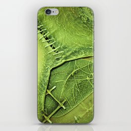 Lime Green . Art of Nature iPhone Skin