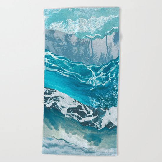 Sea abstract Beach Towel