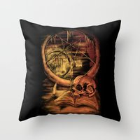 philosophy Throw Pillows featuring Philosophy by Cycoblast Artwork