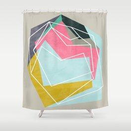 Fill & Stroke Shower Curtain