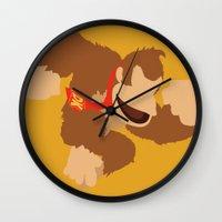donkey kong Wall Clocks featuring Donkey Kong(Smash) by ejgomez