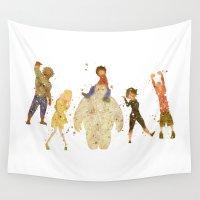 big hero 6 Wall Tapestries featuring Big Hero 6 Disneys by Carma Zoe