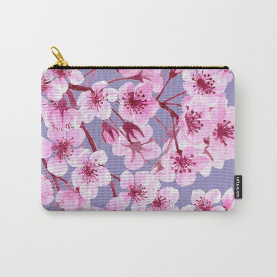 Cherry blossom pattern Carry-All Pouch
