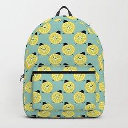 elegant lemon gentelman in hat  Backpack
