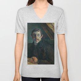 1885 - Gauguin - Self-Portrait Unisex V-Neck