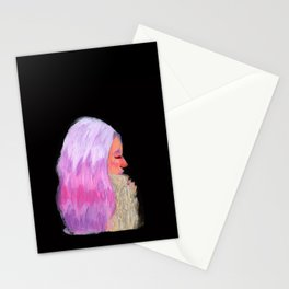 Pink Hair! Stationery Cards