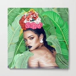 Rihanna naked Metal Print