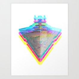 Star Destroyer Star Glitch Wars Art Print