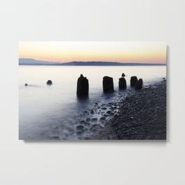 Misty Shore Metal Print