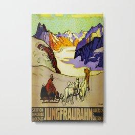 Jungfraubahn Vintage Travel Poster Metal Print