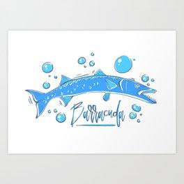 Big Blue Barracuda Art Print